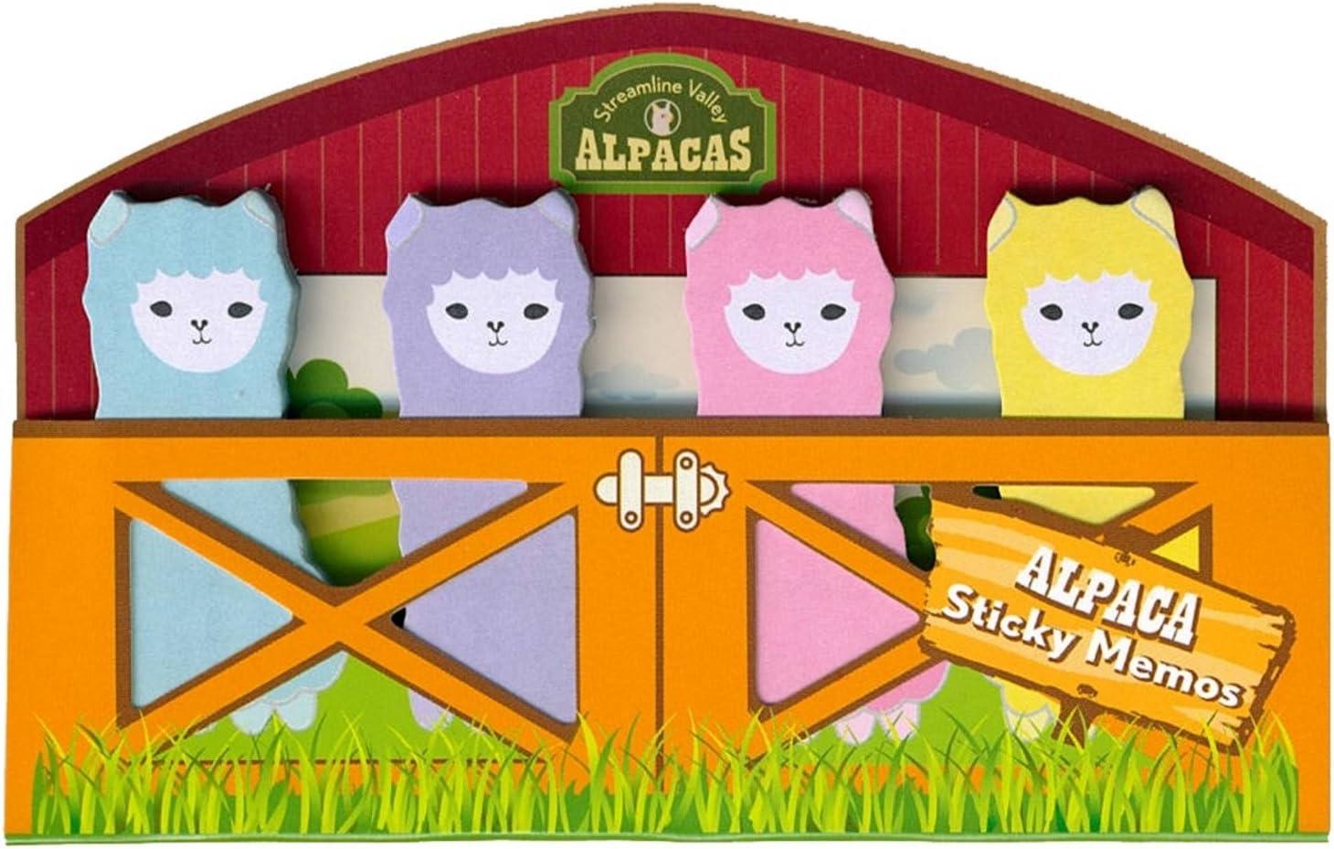 Streamline Valley Alpacas Sticky Memo Tab Set