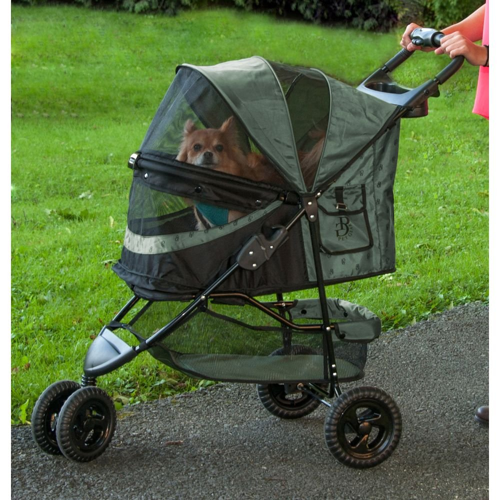 Pet Gear No-Zip Special Edition Pet Stroller, Zipperless Entry, Sage by Vermont Juvenile MFG DBA (Pet Gear) (Image #2)
