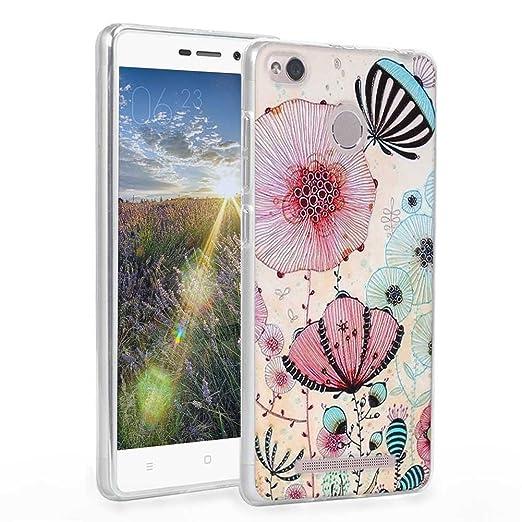 4 opinioni per Xiaomi Redmi 3 / 3s Cover, Fubaoda Estetico 3D Rilievo UltraSlim TPU Skin Cover