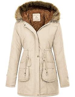 f4d6cdbeb97 GRACE KARIN Womens Hooded Warm Winter Thicken Fleece Lined Parkas Long Coats