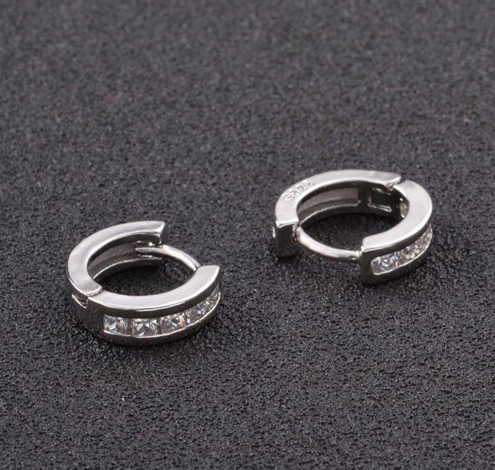 Weimay Pendientes de plata del color Pendientes de la forma de la corona Pendientes de la joyer/ía del Zircon Platino que platea para