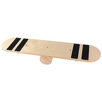 POWRX Balance de Madera de monopatín Tabla de Equilibrio para Entrenamiento Balance Board Fitness Indoor Board, Mit Grip: Amazon.es: Deportes y aire libre