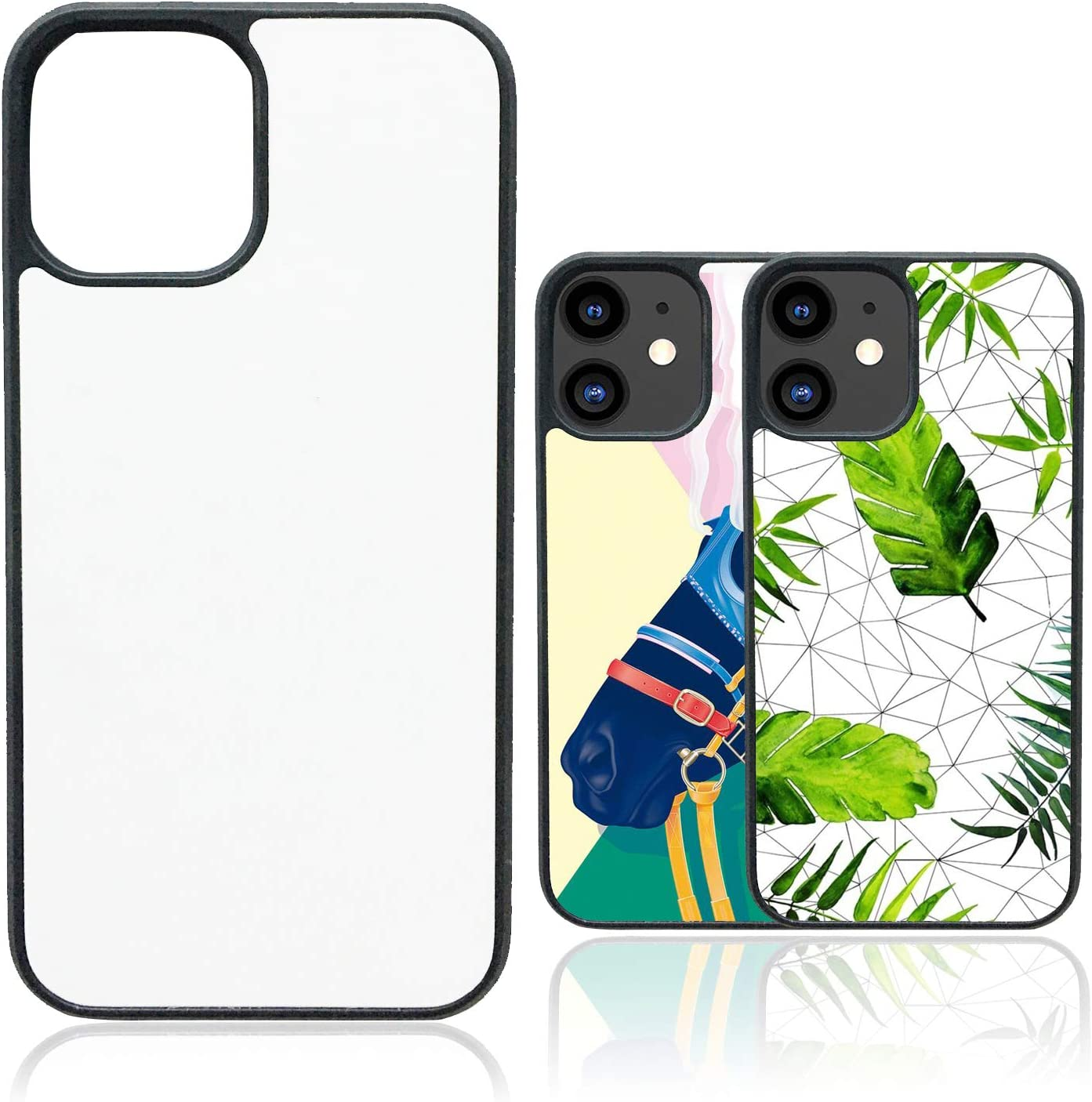 2020 6.1-Inch Blank Printable Phone Case for DIY Customize Heat Press Soft Rubber Protective Slim Case JUSTRY 10PCS Sublimation Blanks Phone Case Covers Compatible with Apple iPhone 12//12 Pro