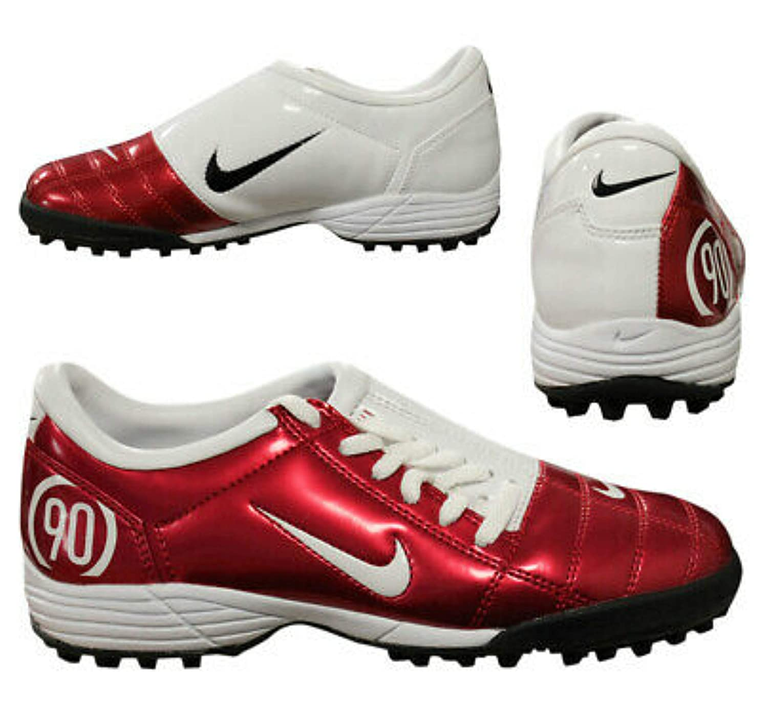 7b570b0c901ed Nike Total 90 III TF Plus Astro Turf Trainers Shoes Boots Comet  Red White-Black Men s UK 10.5