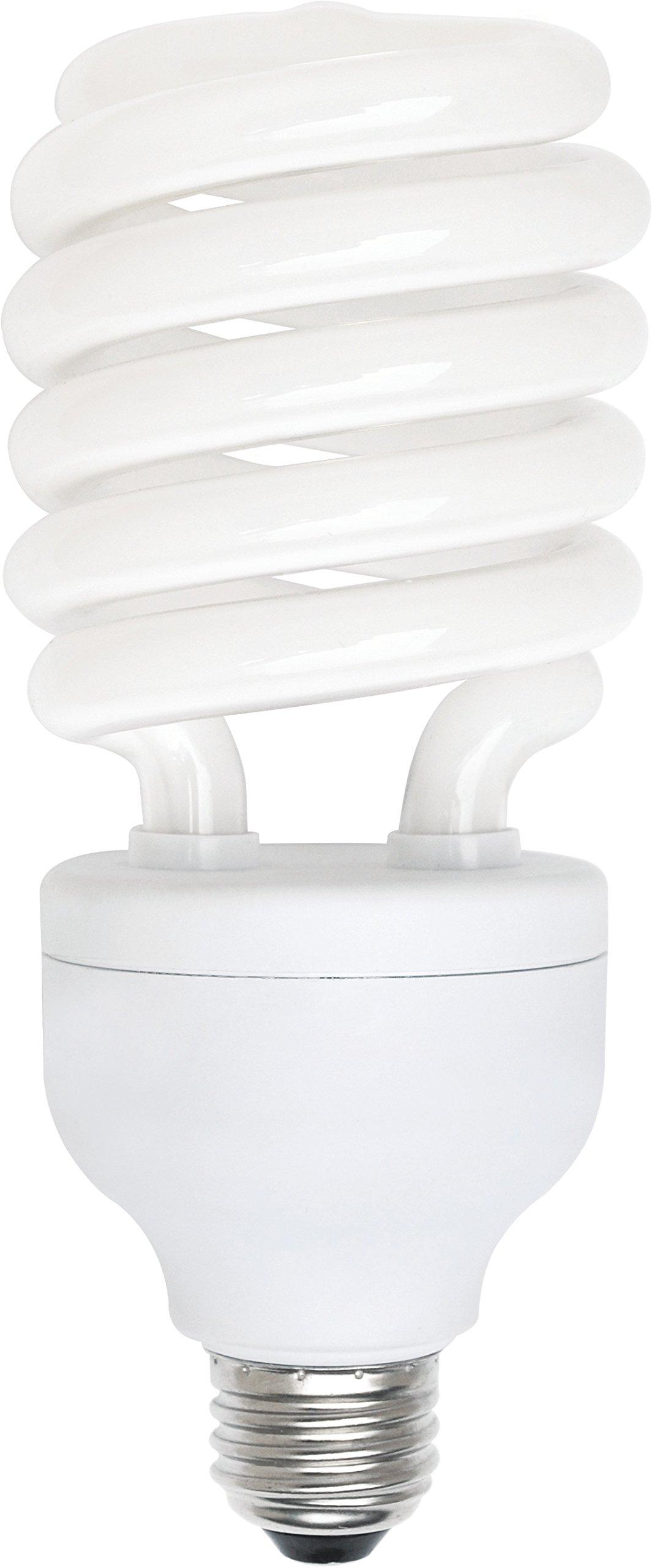 Luxrite LR20210 (10-Pack) 42-Watt CFL T3 Spiral Light Bulb, Equivalent To 200W Incandescent, Warm White 2700K, 2820 Lumens, E26 Standard Base