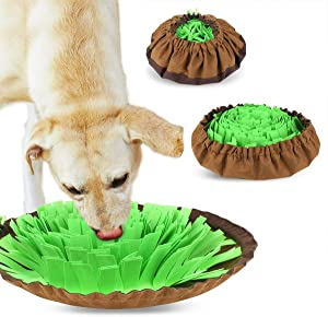 Xiaohudui Snuffle Mat for Dogs Treat Interactive Puzzle Toy Machine Washable Nosework Blanket for Feeding Medium Large Dogs, Feed Game for Boredom