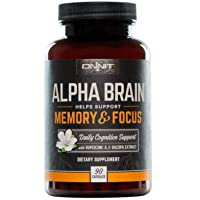 ONNIT Alpha Brain (90ct) - Over 1 Million Bottles Sold - Premium Nootropic Brain...