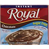 Royal Instant Pudding Dessert Mix, Chocolate, Fat Free and Sugar Free (12 - 1.69 oz Boxes)