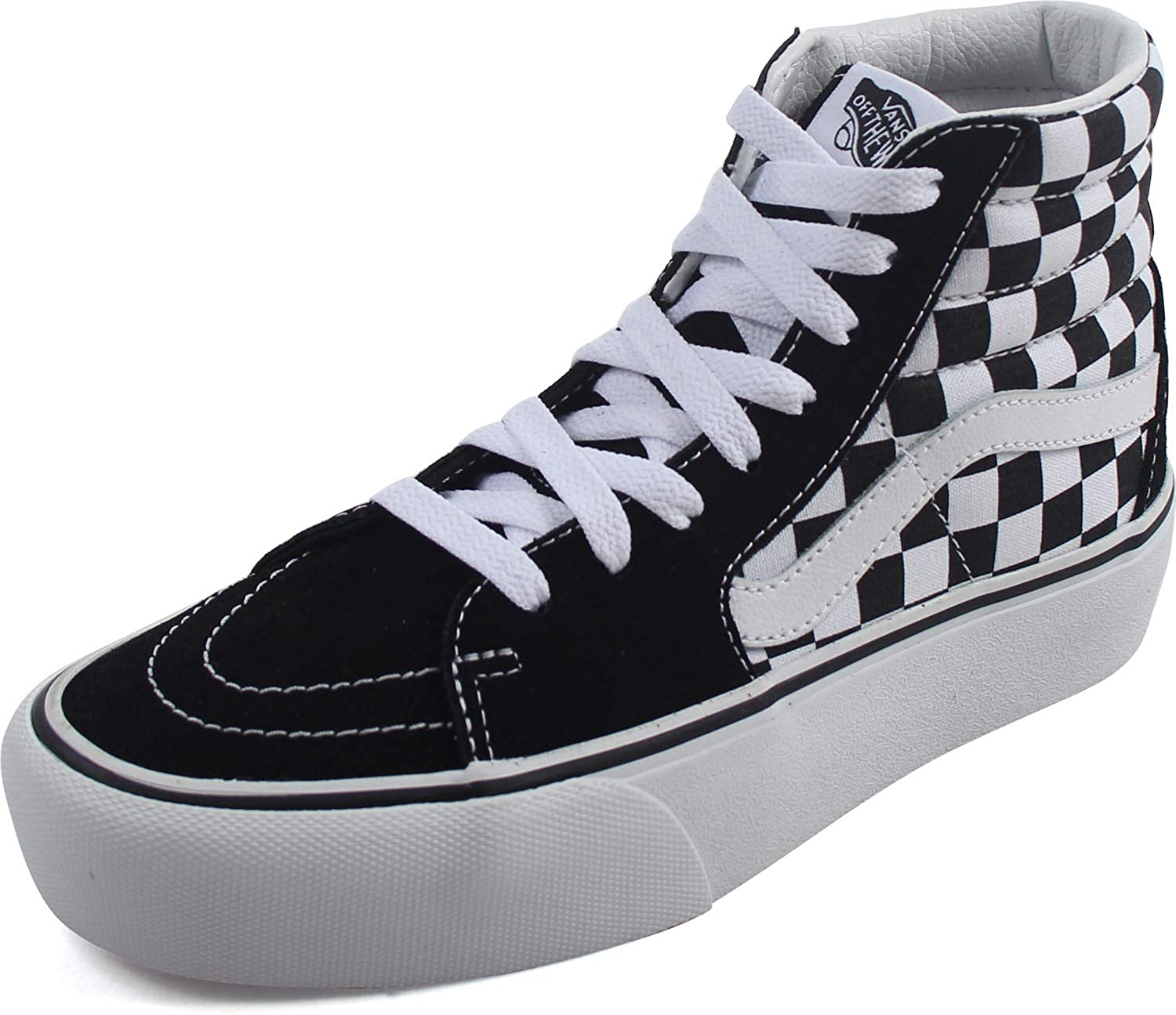 Vans - Womens Sk8-Hi Platform 2.0 Shoes, Size: 11 B(M) US Womens, Color:  Checkerboard/True White