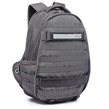 Mochila de ordenador portátil de los hombres, bolsa de viaje de moda con gran capacidad multi-función de Kaukko (Gris) : Amazon.es: Equipaje