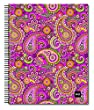 Spiral-Bound Ruled Notebook 8.5x11-Pink Paisley