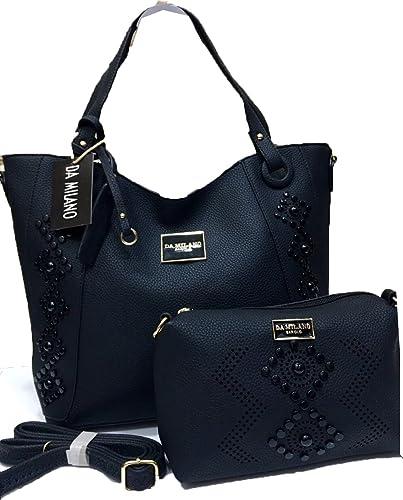 9379127fc0f Da Milano Ladies Hand Bag Blue color 17/11 inches: Amazon.in: Shoes &  Handbags