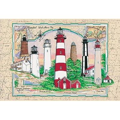 Heritage Puzzle - Donna Elias - Coastal Del-Mar-Va - Jigsaw Puzzle - 1000 Pc: Toys & Games