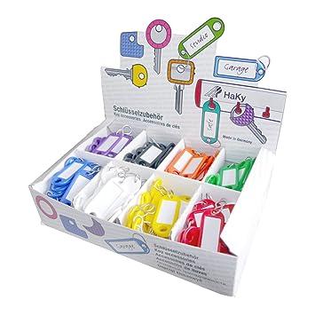 Wedo Kunststoff Shaken Etiketten Farbig Sortiert Kschlüsselanhänger Auswechsel