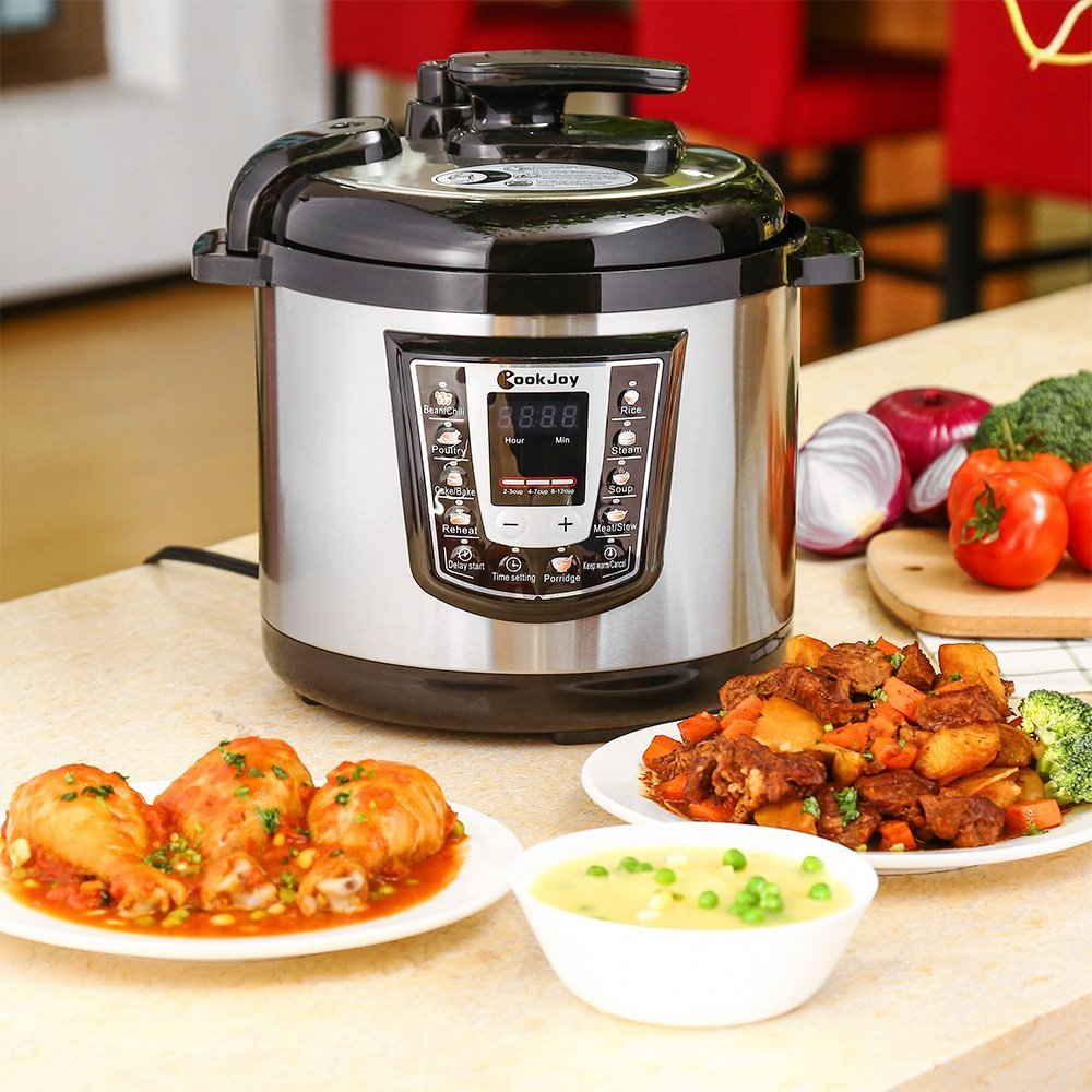 Multifunction Electric Pressure Cooker 6 Litre 8-in-1 Programmable Multi-Cooker with Stainless Steel Inner Pot by COOK JOY (Image #6)