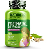 NATURELO Post Natal Multivitamin - Whole Food Postnatal Supplement for Breastfeeding...
