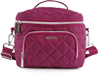 BEBE Womens Gigi Reusable Insulated Lunch Box Tote Bag Casual Daypack, Wine One Size