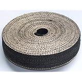 "Foam & Upholstery Warehouse Black & White Herringbone Webbing, Great Quality Upholstery Webbing 2"" Wide X 10 Mtr Roll"