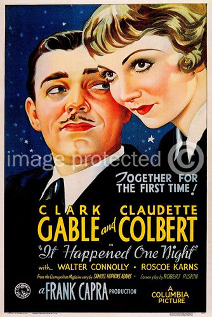 It Happened One Night 1934 Vintage Movie Poster Art Version 1 11x17