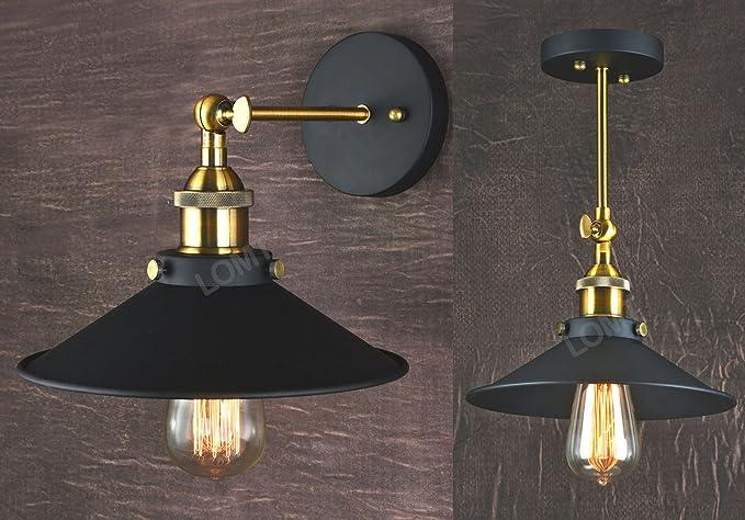 Plafoniere Industriali Vintage : Lampada piegabile in metallo con applique a muro stile vintage