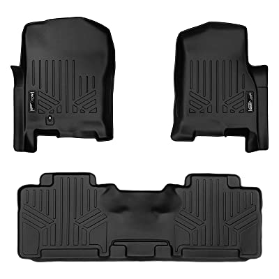 MAXLINER Floor Mats 2 Row Liner Set Black for 2007-2010 Ford Expedition / Lincoln Navigator (All Models Including EL and L): Automotive
