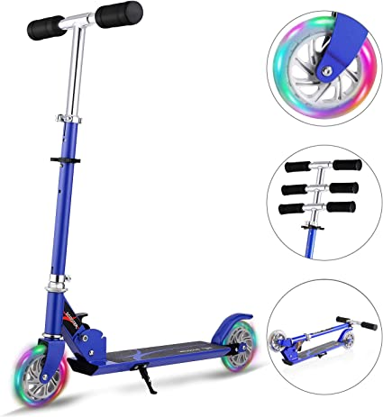 Amazon.com: Hikole Scooter para niños | Scooters Plegable ...
