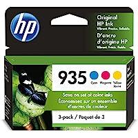 HP 935   3 Ink Cartridges   Cyan, Magenta, Yellow   C2P20AN, C2P21A, C2P22AN