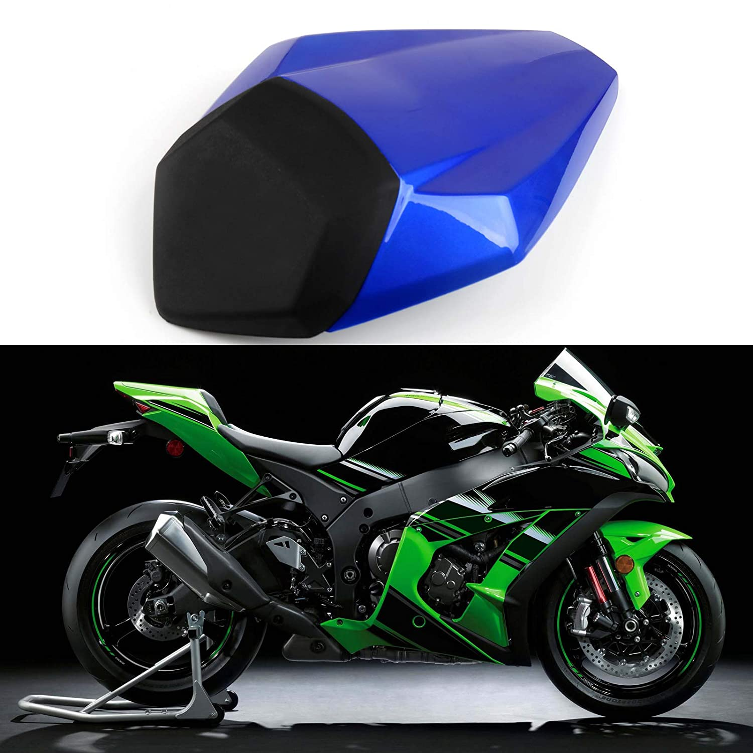 Mad Hornets Rear Passenger Single Seat Cover Cowl For Kawasaki Nijia ZX10R ZX-10R ABS 2016 White
