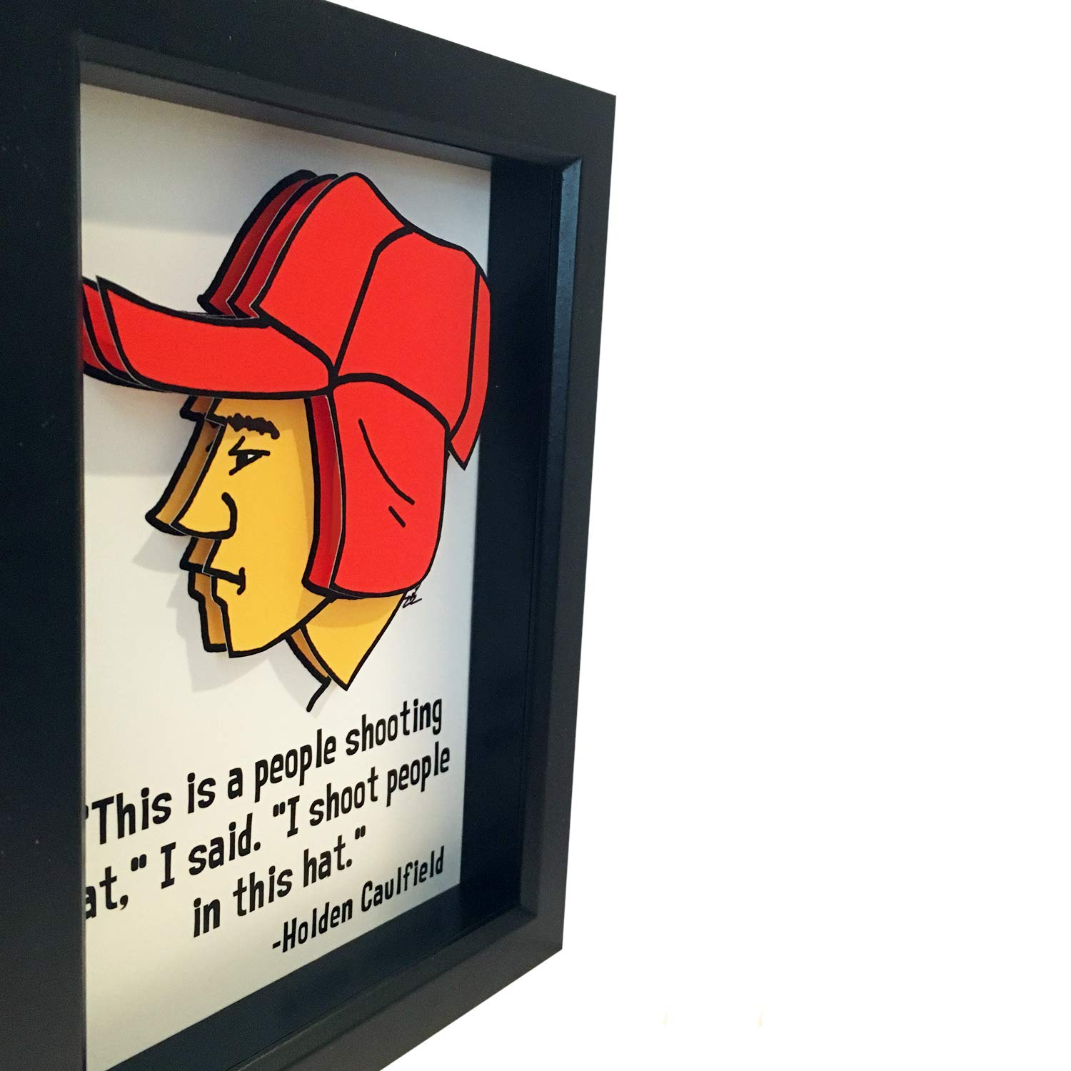 Amazoncom The Catcher In The Rye Holden Caulfield Quote 3d