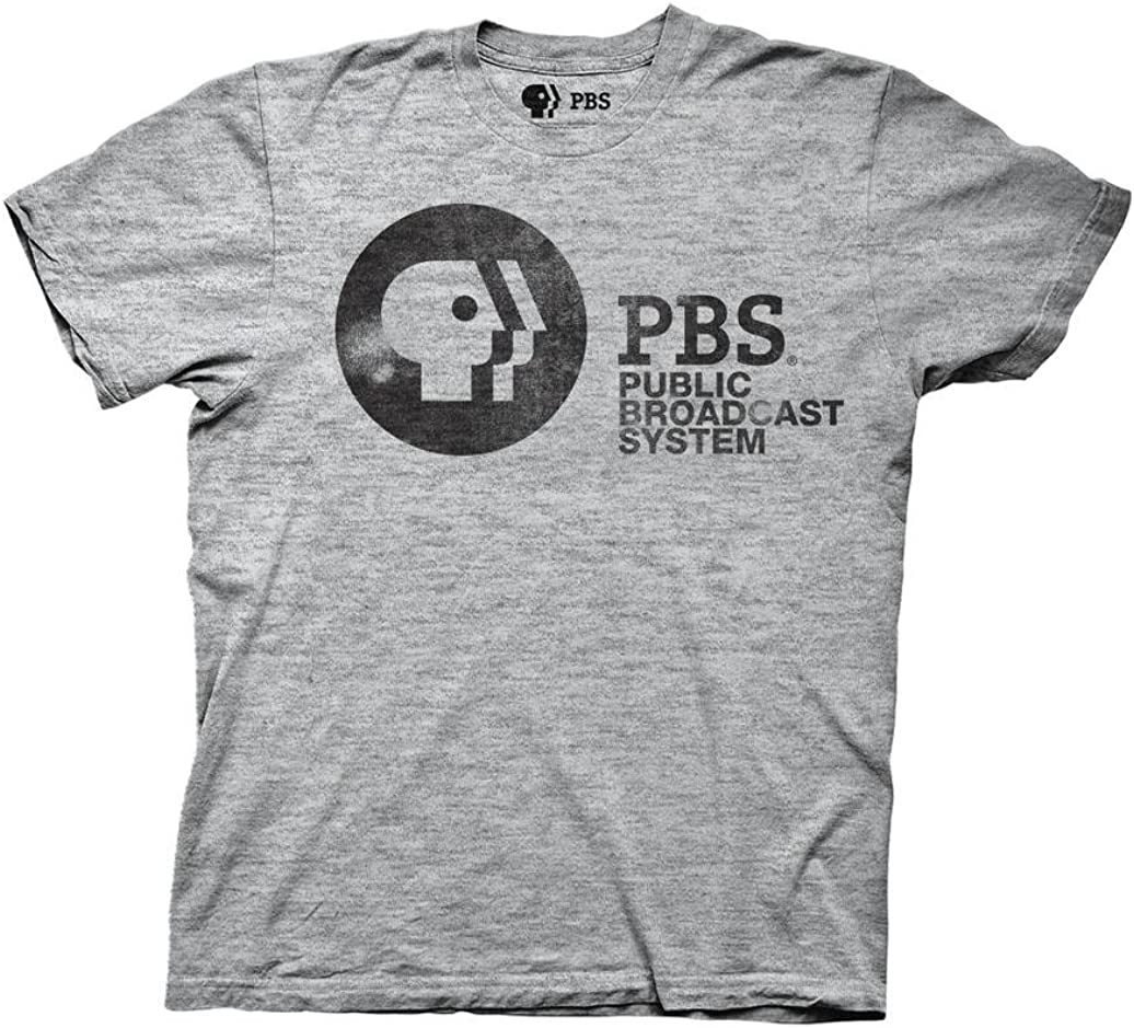 Ripple Junction PBS Adult Unisex Public Broadcast System Light Weight Crew T-Shirt