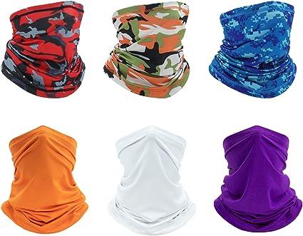 Face Mask Bandana Breathable Scarf Neck Gaiter Reusable UV Balaclava Headwear