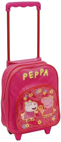 différemment f2d52 63efc Arditex - 008214 - Trolley Cartable À roulettes - Peppa Pig Le Cochon - 27  X 31 X 10 Cm