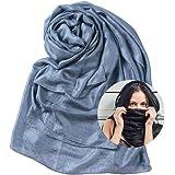 WAMSOFT Womens Scarf Shawl Fashion Lightweight Soft Large Swim Cover up Thin Scarf Head Wrap