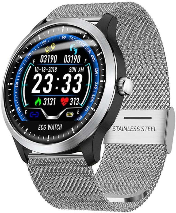 CZX N58 ECG PPG Reloj Inteligente Smartwatch Ritmo Cardíaco Esfigmomanómetro De Monitor Electrocardiógrafo De Los Hombres De Las Mujeres,A