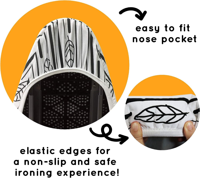 resistentes a las manchas y a las marcas 50x130CM reflectantes al calor QCWN fundas para tabla de planchar resistentes protectores de tablas de planchar con cierre de cord/ón gruesas y acolchadas