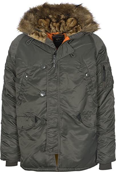 : Alpha Industries Jacke N3B VF 59, Color:rep.grey