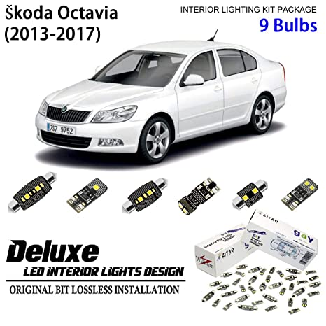 Superb Amazon.com: ZIYO ZPL1537   (9 Bulbs) Deluxe LED Interior Dome Light Kit  6000K Xenon White Car Room Lamps Replacement Upgrade Fit 2013 2017 (MK3)  Skoda ...