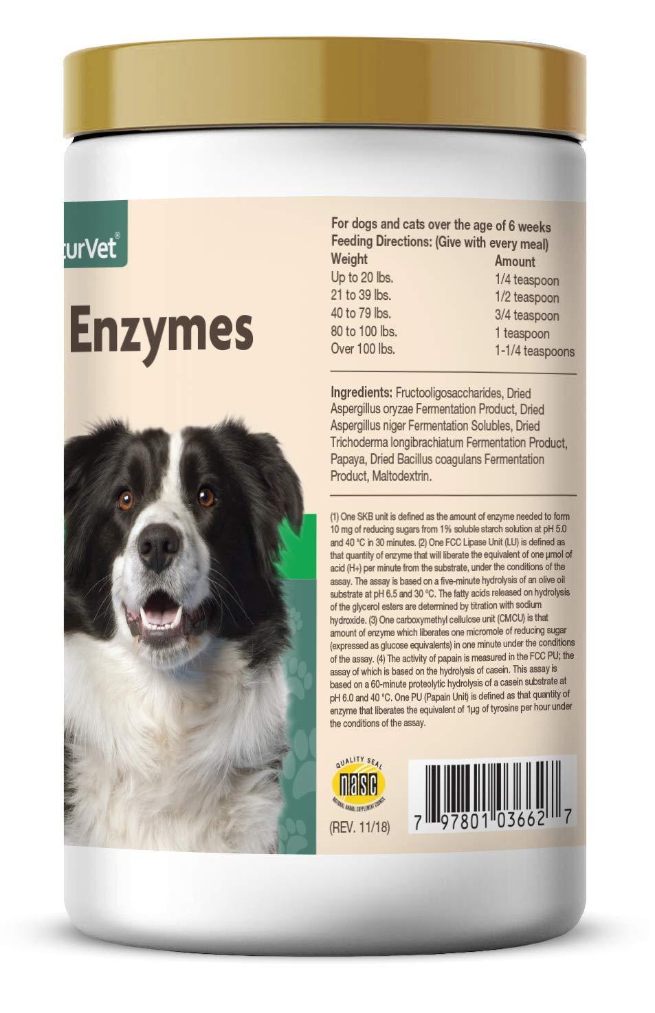 NaturVet Digestivo Enzimas y Probiotics, 453 g