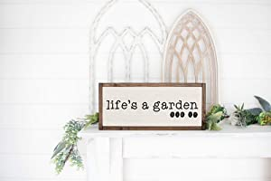 Lifes A Garden Dig It Sign, Funny Garden Signs, Indoor Garden Decor, Funny Garden Sayings, Gardening Gift, Gift for Gardener, Wood Sign 12x22inch