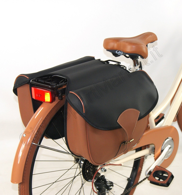 Tasche Fahrrad Öko-Leder Doppel - Modell DIEFFE \