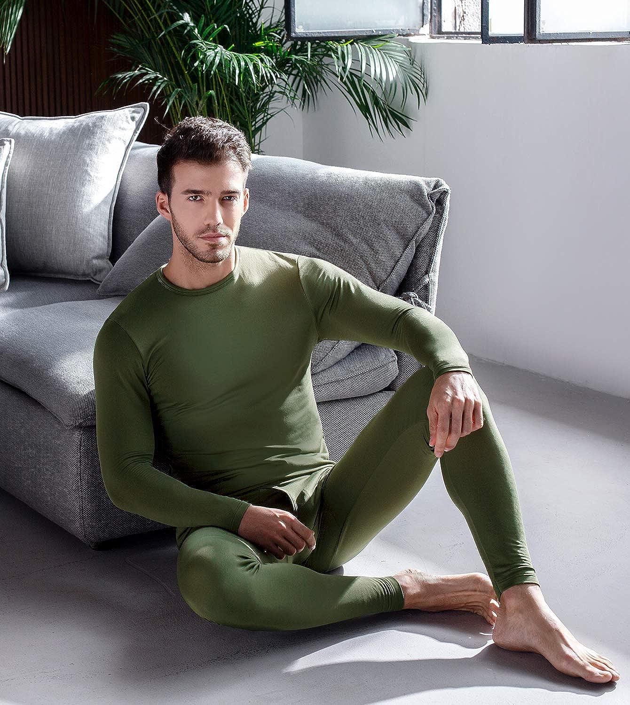 LAPASA Uomo Set Intimo Termico T-Shirt Maniche Lunghe /& Pantaloni Invernali Lightweight M11 Ti Tiene al Caldo Senza Stress