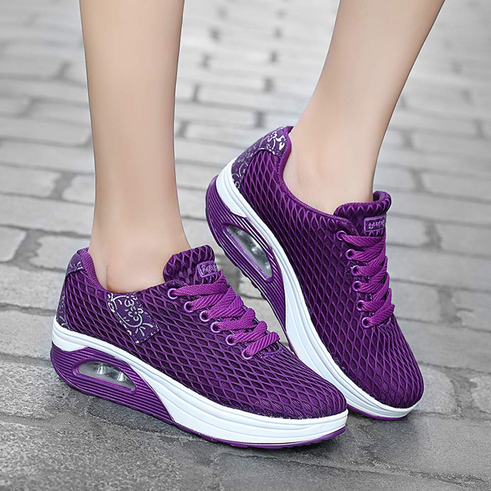Naladoo Womens Mesh Sneakers Breathable Tennis Air Trail Athletic Running Shoes