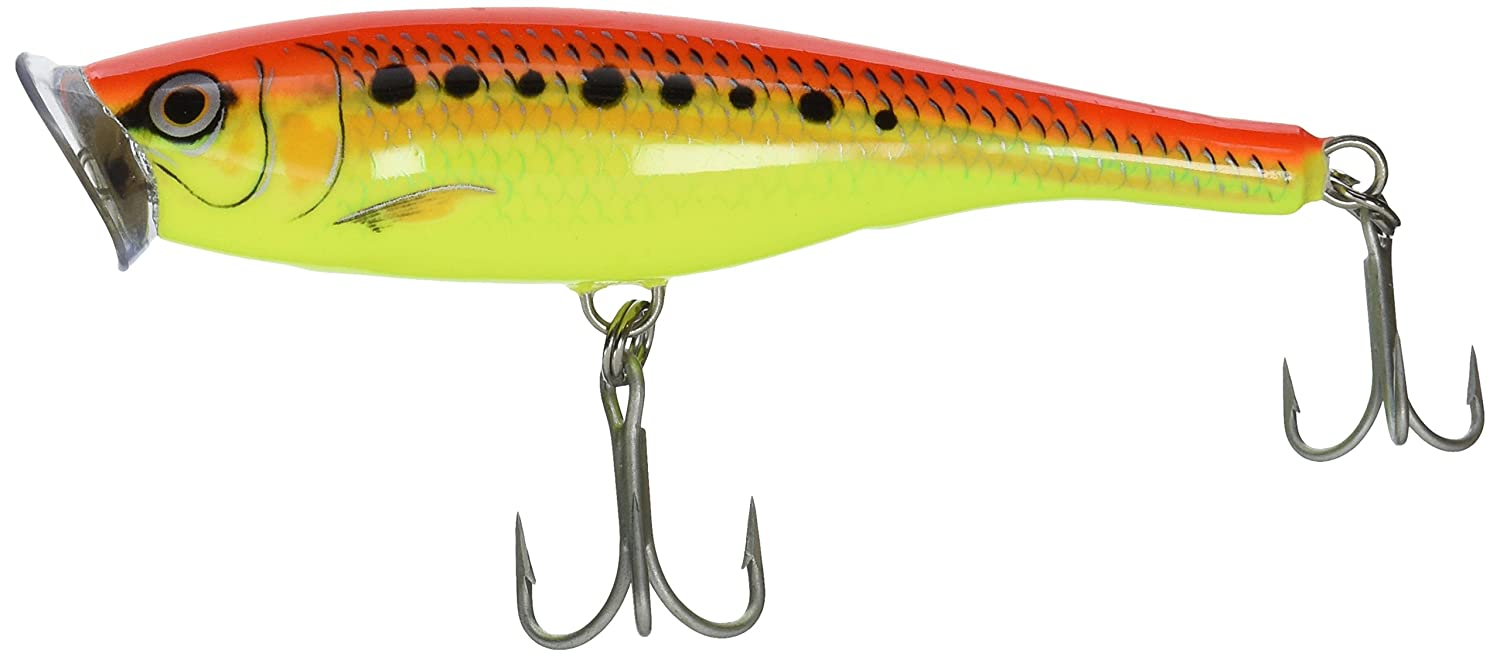 Rapala Saltwater Skitter Pop 12 Fishing Lure, Fire Chartreuse