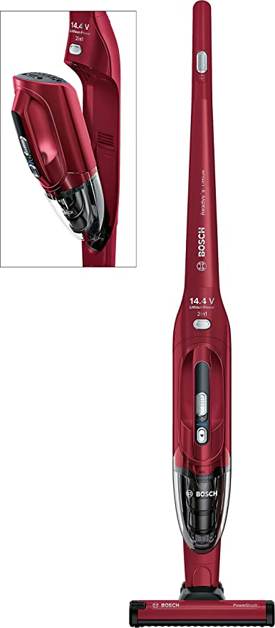 Bosch BBH2P14 Readyyy 2-in-1 Aspirador sin cable y de mano, 14,4 V, color rojo granate: Amazon.es: Hogar