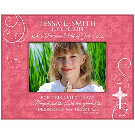 Amazon.com - Personalized Baptism Picture Frame for This Child I ...
