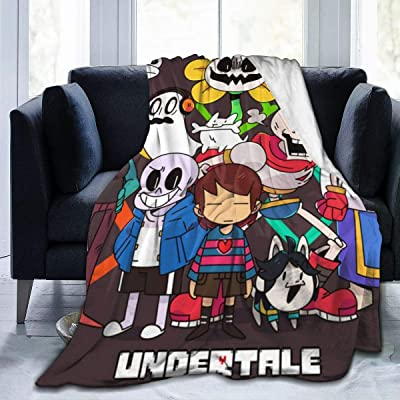 shandongqimingnongyeke Ultra Soft Flannel Fleece Throw Blanket for Kids Boys Adults,Undertale All Protagonists ? Lightweight Warm Winter Anti-Static Blankets for Bed Couch Sofa Living Room Bedroom: Home & Kitchen