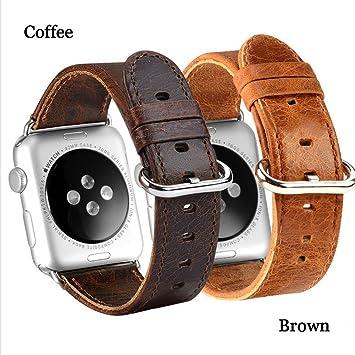 Lederarmband Für Die Apple Watch 42mm Uhrenarmband Armband Braun Moderne Techniken Uhren & Schmuck Zubehör