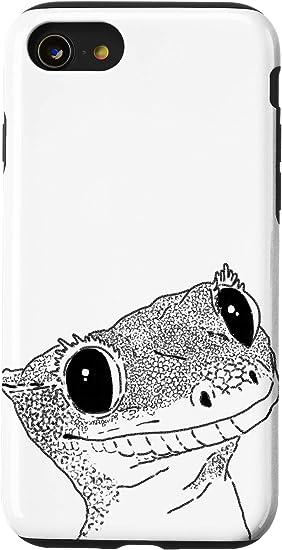 iPhone SE (2020) / 7 / 8 Crested Gecko Sketch, Crestie Drawing, Gecko Lover, Lizard Case