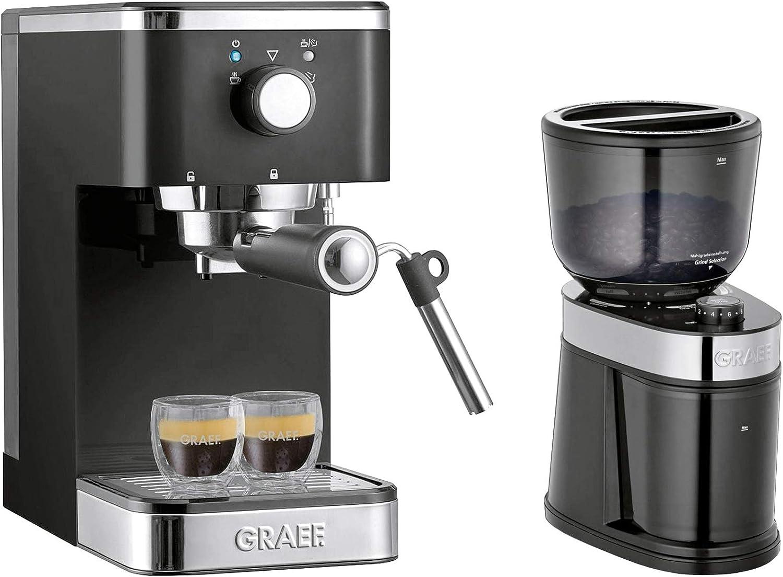 Graef ES902EU Cafetera Espresso Manual Acero inoxidable 3 litros Gris 2515 W