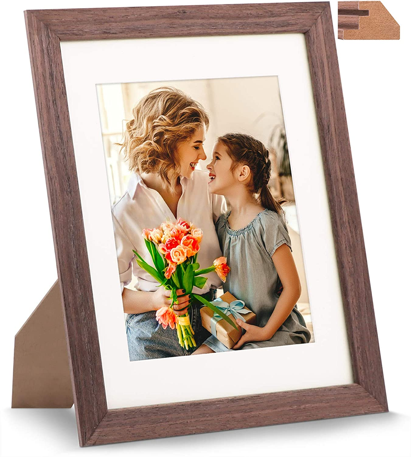 Jd Concept 8 5x11 Wood Picture Frame With Glass Front For 6x8 With Mat Or 8 5 X 11 Without Mat Perfect For Document Diploma Certificate Artwork Prints Or Photo